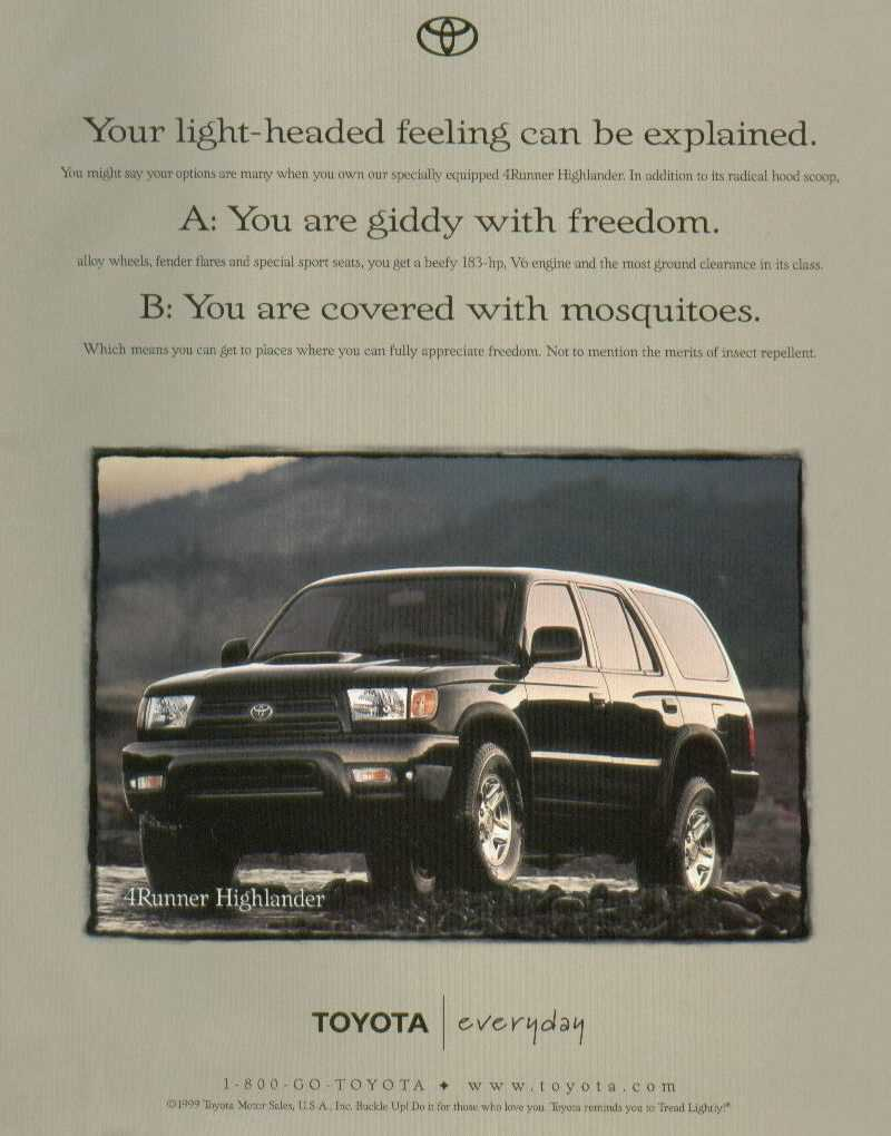 Toyota 4runner Highlander Information
