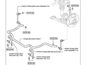 2007 Toyota 4Runner Adjustable Sway Bar End Links