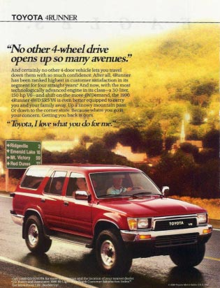 Ad on 1995 Toyota 4runner Abs